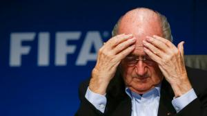 FIFA President Sepp Blatter gestures as he attends a news conference after a meeting of the FIFA executive committee in Zurich in this September 26, 2014 file picture. Swiss authorities have opened criminal proceedings against individuals on suspicion of mismanagement and money laundering related to the allocation of the 2018 and 2022 FIFA soccer World Cups in Russia and Qatar.  Reuters/Arnd Wiegmann/Files